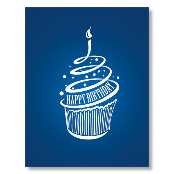 Modern Cupcake Birthday Cards