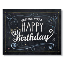 Chalk Board Birthday Card