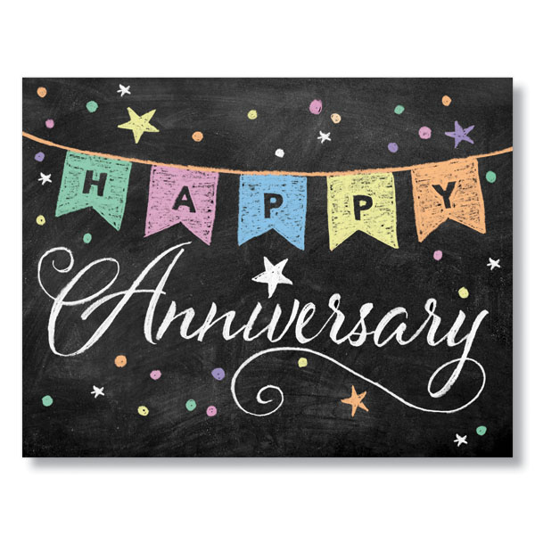 One Year Business Anniversary Quotes: Chalkboard Anniversary Banner