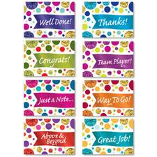 Glitzy Mini Recognition Note Cards
