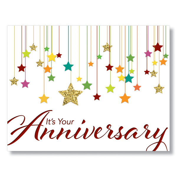 Try our newest colorful stars employee anniversary cards from hrdirect try our employee anniversary cards to share your sincerest work anniversary wishes and gratitude to valued m4hsunfo