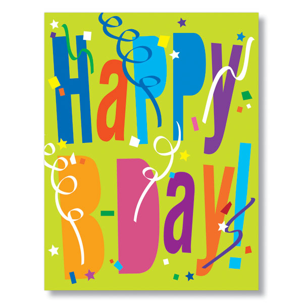 Share Business Birthday Wishes With Clients Employees Using Our PY Happy B Day Confetti