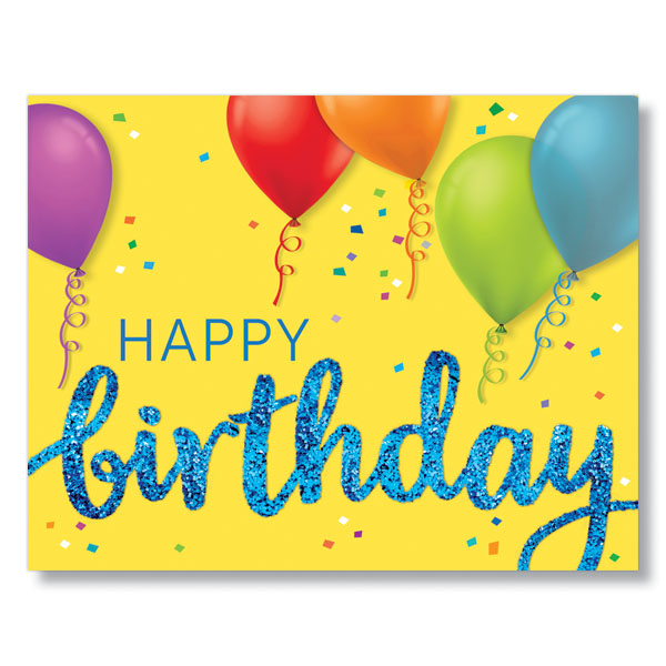 Try Our Py Birthday And Balloons Corporate Birthday Cards For Employees