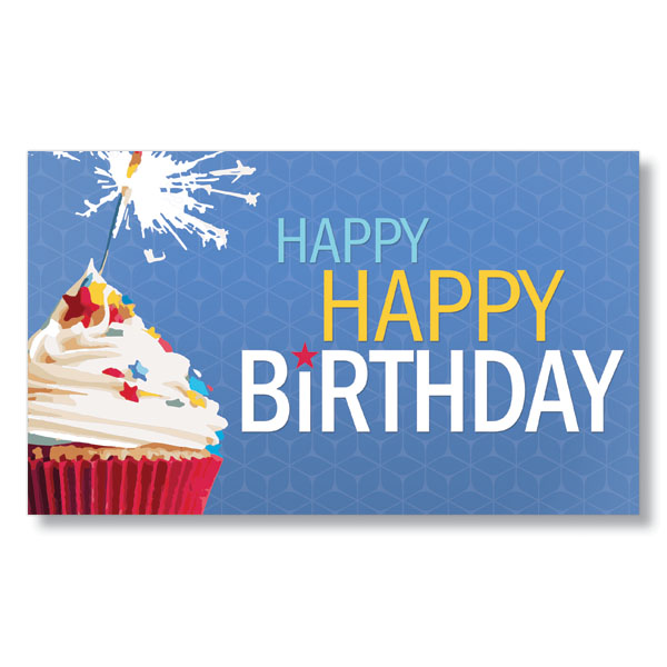 Fe birthday cupcake and sparkler classic birthday cards for clients great birthday cards for clients and employees are 1 click away visit hrdirect to see m4hsunfo