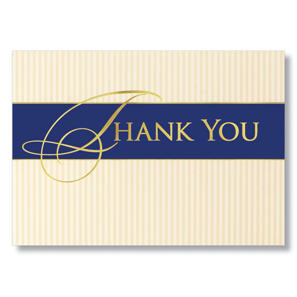 Classic Business Thank You Cards For Clients And Vendors