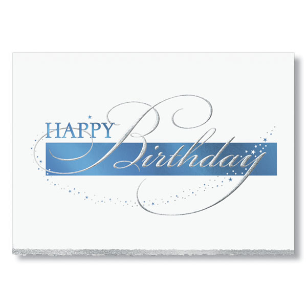 Shimmering Stardust Birthday Cards