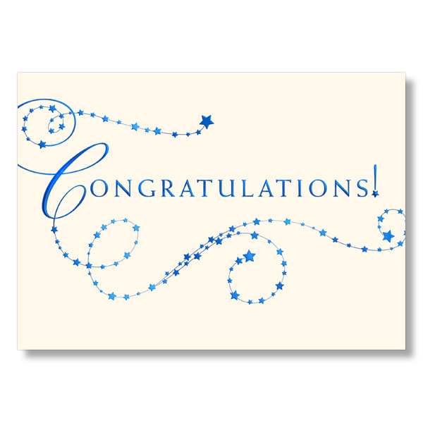starry congratulations card - Congratulations Cards