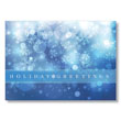 Soft Holiday Snow Greetings Holiday Card