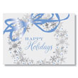 Holiday Snowflake Wreath Holiday Card