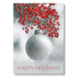Ornament and Red Berries Holiday Card