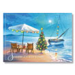 Tropical Island Holiday Holiday Card