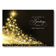 Sparkling Tree Greetings Holiday Card