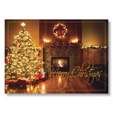 Fireplace Glow Holiday Card