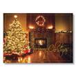 Fireplace Glow Holiday Card