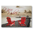 Adirondack Dock Warmth Holiday Card
