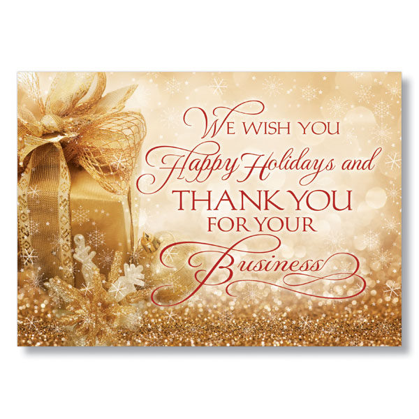 Business thank you holiday card corporate christmas cards hrdirect business thank you holiday card colourmoves