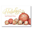 Happy Holiday Bulbs-Red Holiday Card