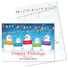 Snowmen Named Holiday Card