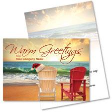 Beachside Adirondacks Holiday Card