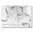 Blue Ribbon Flake Holiday Card