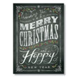 Chalkboard Greetings Holiday Card