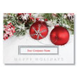 Snow Covered Berries and Bulbs Holiday Card