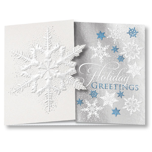 Exquisite snowflake gatefold holiday card greeting cards exquisite snowflake gatefold holiday card m4hsunfo