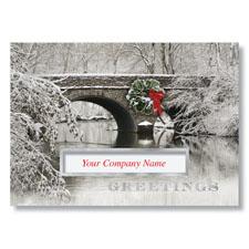 Decorated Stone Bridge Holiday Card