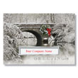 Decorated Stone Bridge Holiday Card
