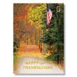 Autumn Walkway Holiday Card