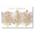 Foil Trees in the City Holiday Card
