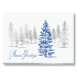 Elegant Forest of Foil Trees Holiday Card