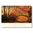 Sunset Scene in Fall Holiday Card