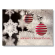 Striped Christmas Ornaments Holiday Card