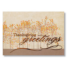 Thanksgiving Greetings Holiday Card