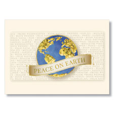 Global Peace on Earth Holiday Card