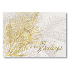 Golden Pines Holiday Card