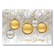 Festive Ornaments Holiday Card
