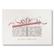 Ornate Holiday Gift Box Holiday Card
