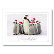 Team of Santa's Penguins Holiday Card