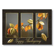 Golden Leaves and Berries Holiday Card