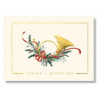 French Horn Greetings Holiday Card