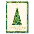 Mosaic Christmas Tree Holiday Holiday Card