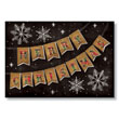 Burlap and Plaid Banner Christmas Holiday Card