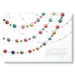 Colorful Holiday Beads Holiday Card