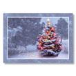 Snowy Christmas Tree Holiday Card