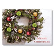 Country Christmas Greenery Holiday Card