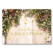 Rustic Holiday Greeting Holiday Card