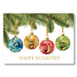 Wrap Around Ornaments Holiday Card