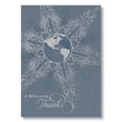 Global Snowflake Holiday Card